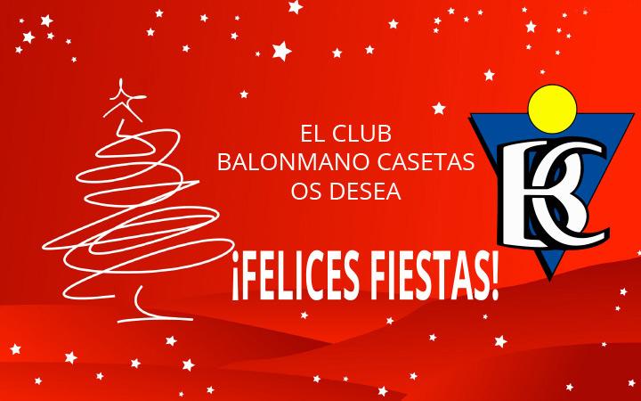Felicitación de Navidad del club Balonmano Casetas